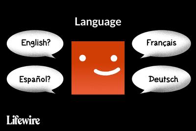 Illustration of Netflix logo with English, Español, Français, and Deutsch options for Languages