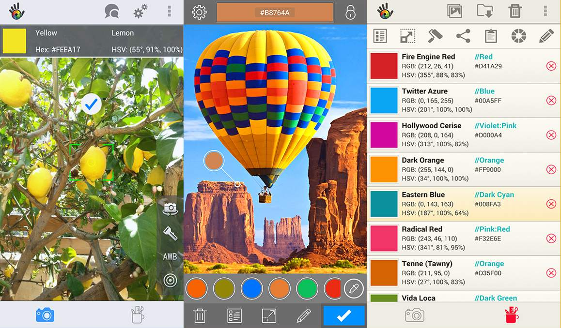 Color Grab app on Android.