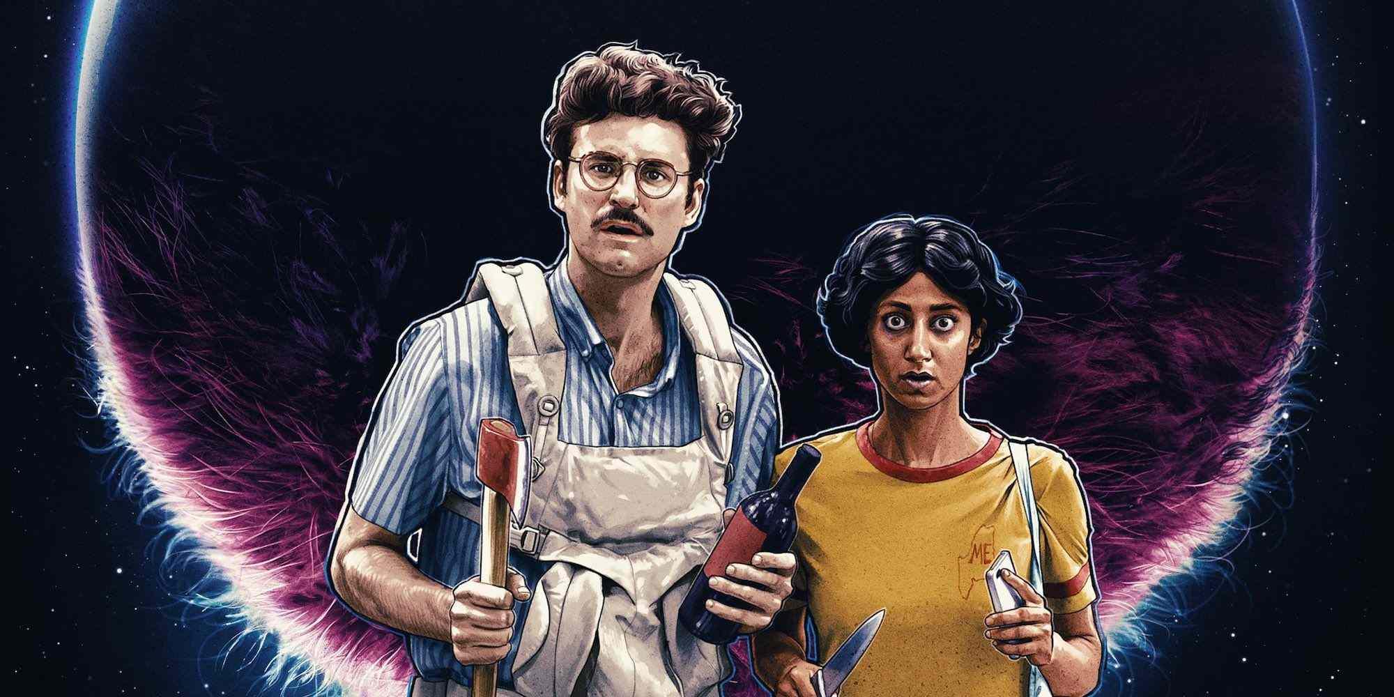 Sunita Mani and John Paul Reynolds in Save Yourselves