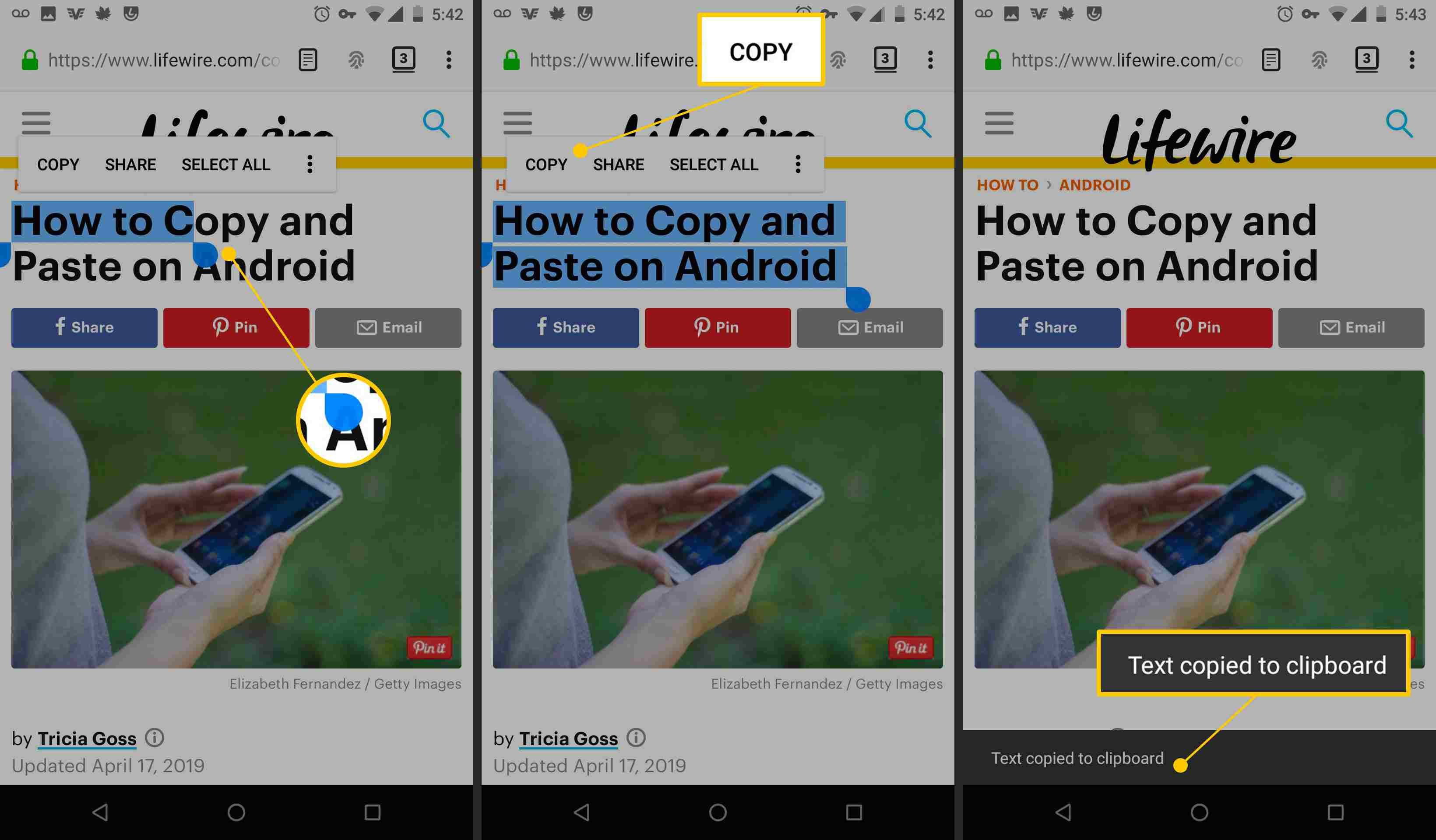 How to Copy and Paste on Android