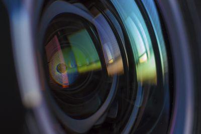 Close up photo of camera lens