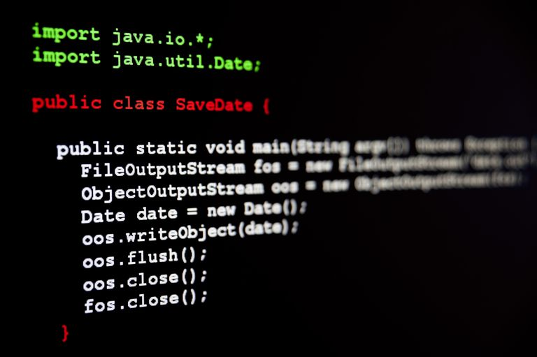 A screenshot of some Java code.
