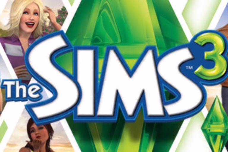 An illustration of the Sims 3, including characters from the game.
