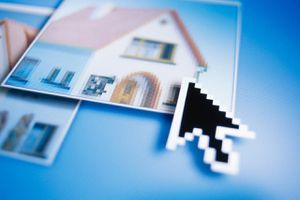 Mouse pointer on image of a house