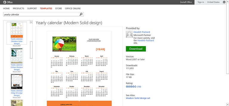 Customizable Calendar Templates For Microsoft Office - Pr calendar template
