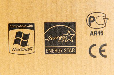 Old PC box showing Windows 7 compatibility logo