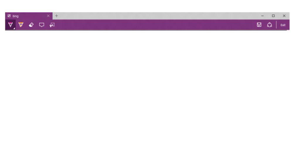 Web Notes toolbar in Microsoft Edge