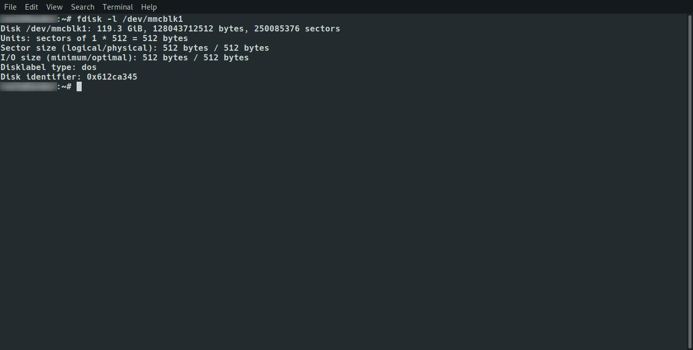 Linux fdisk list partitions