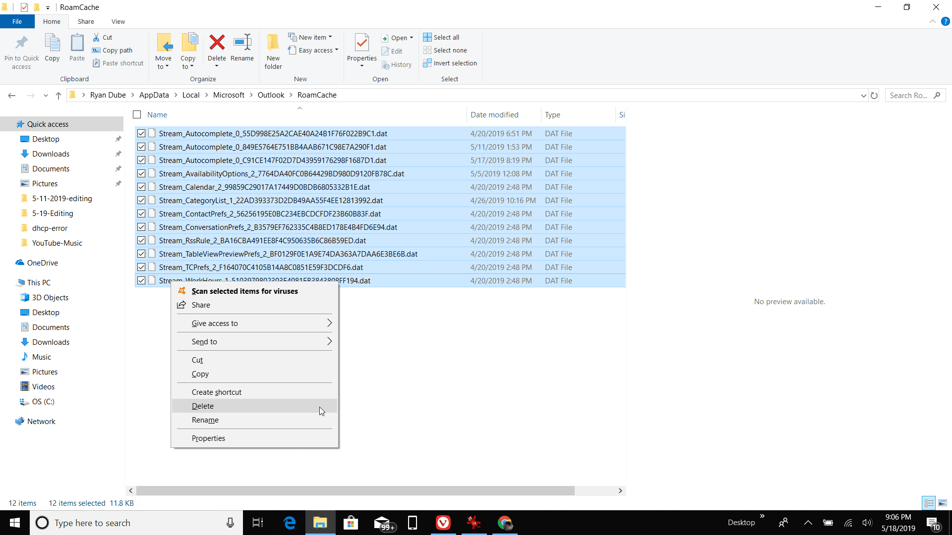 How to Clear the Outlook Cache