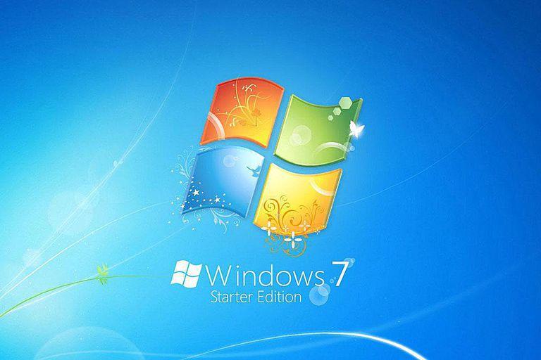 Windows 7 Starter Edition splashscreen