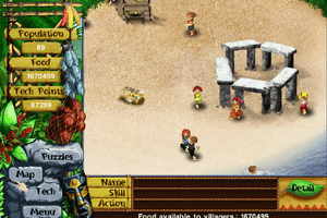 A screenshot of the treasure in Puzzle 15 of the Virtual Villagers game.
