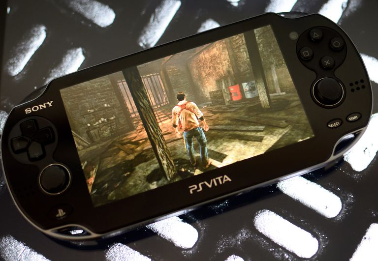 PS Vita with horror game