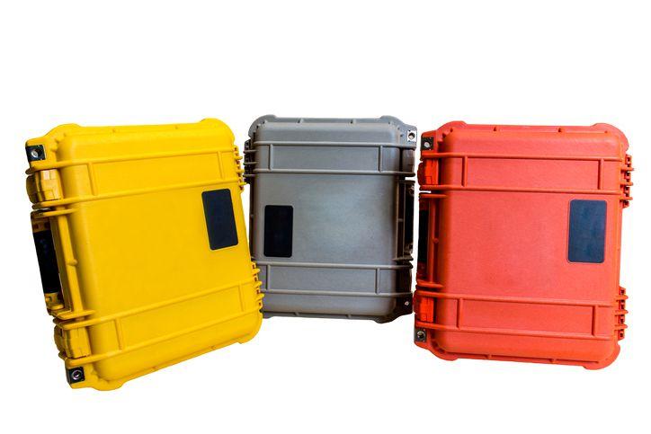 Hard case plastic equipment containers