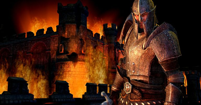 Armored soldier from The Elder Scrolls IV: Oblivion