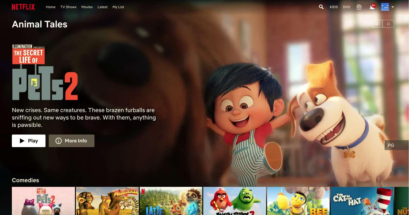 Netflix secret code for kids' movies like Secret Life of Pets 2