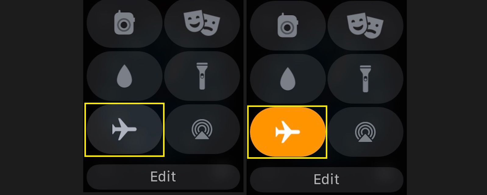 Tap Airplane Mode to switch off your cellular connection and shut down Wi-Fi.