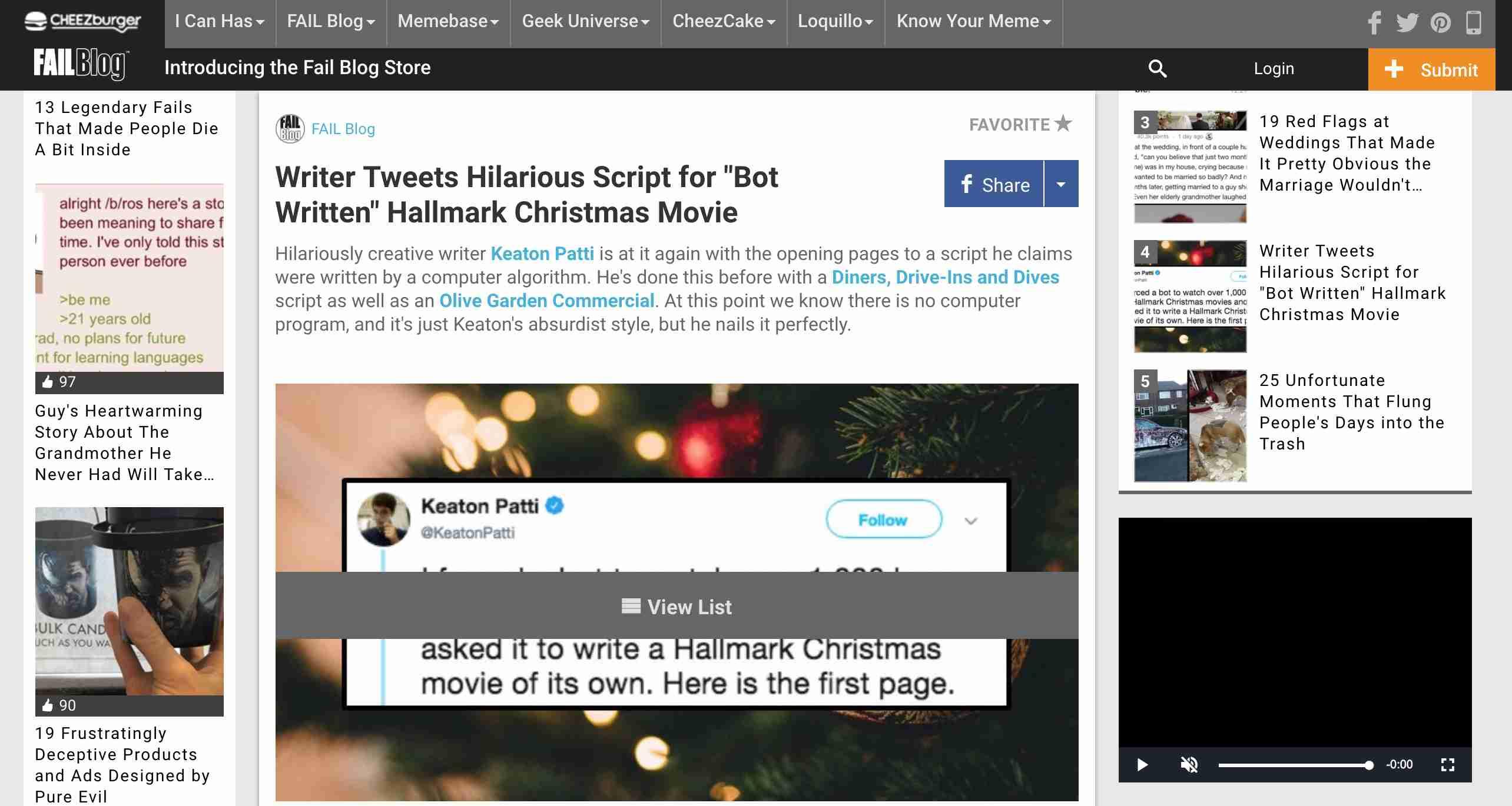 Fail Blog homepage