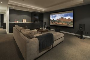 Well-equipped home theater