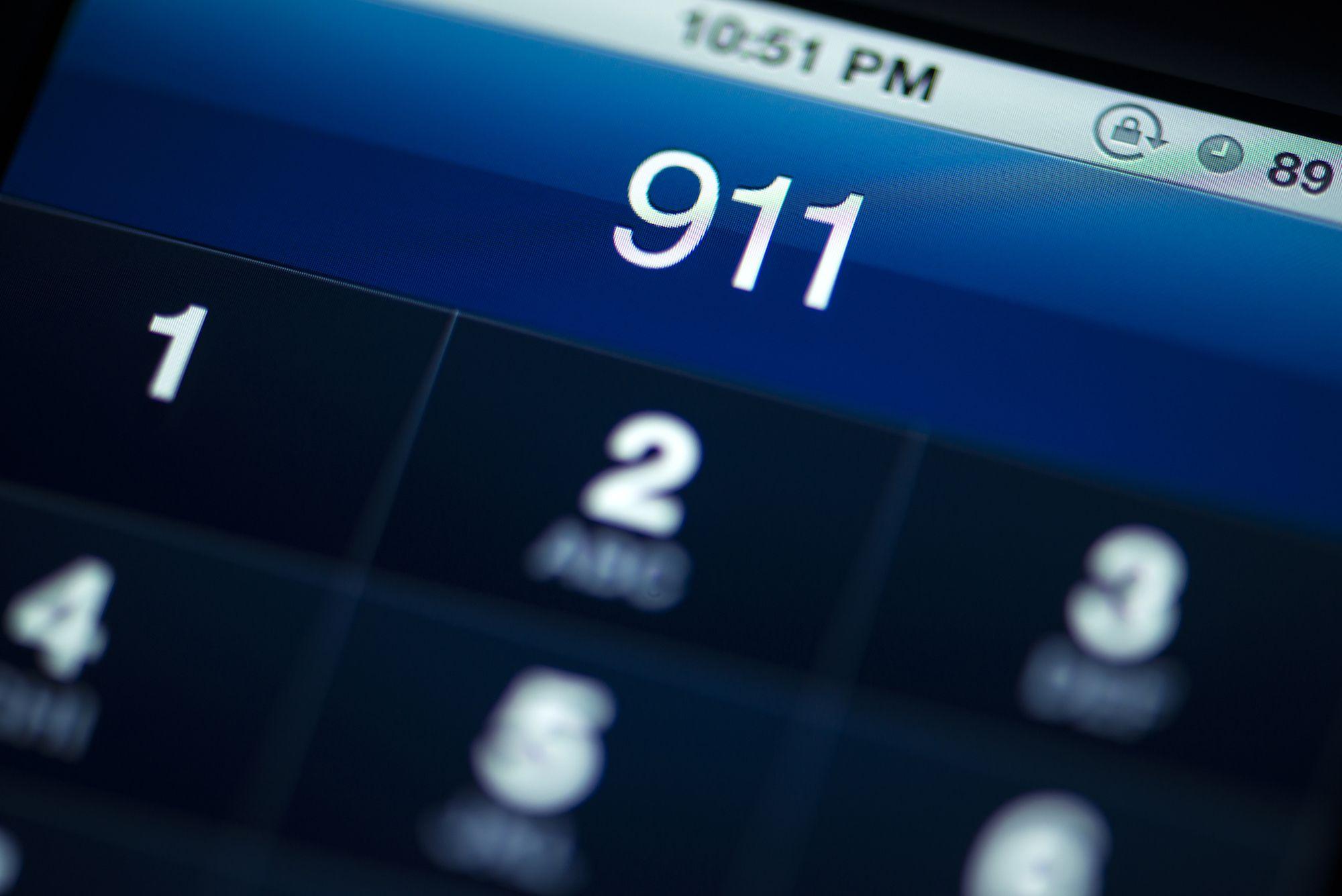 911 call on a cellphone