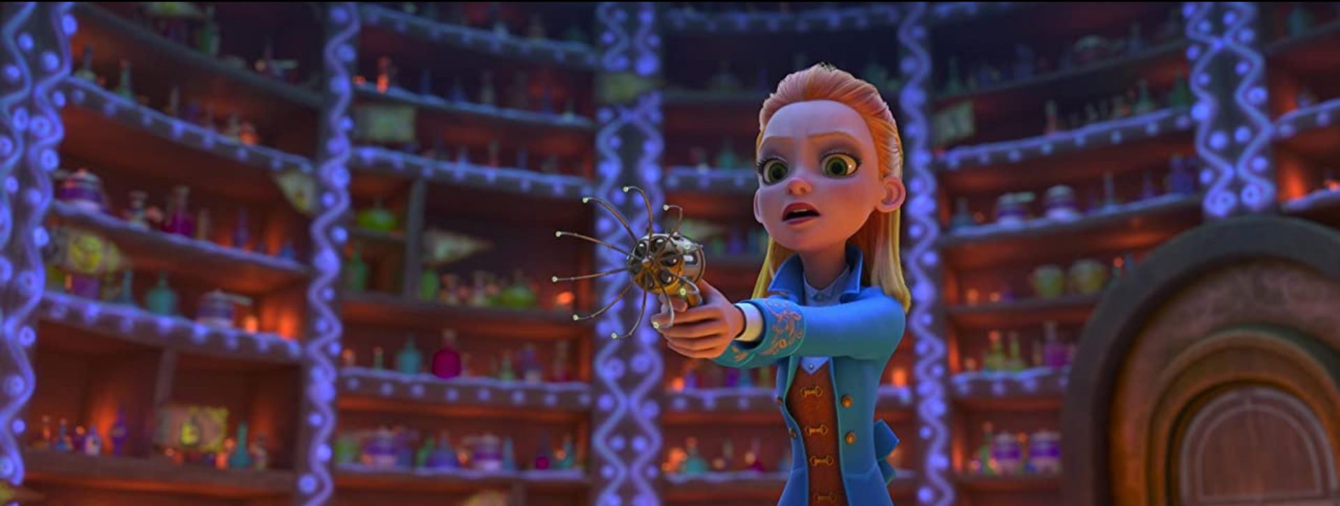 A screenshot from the animated film 'Secret Magic Control Agency'