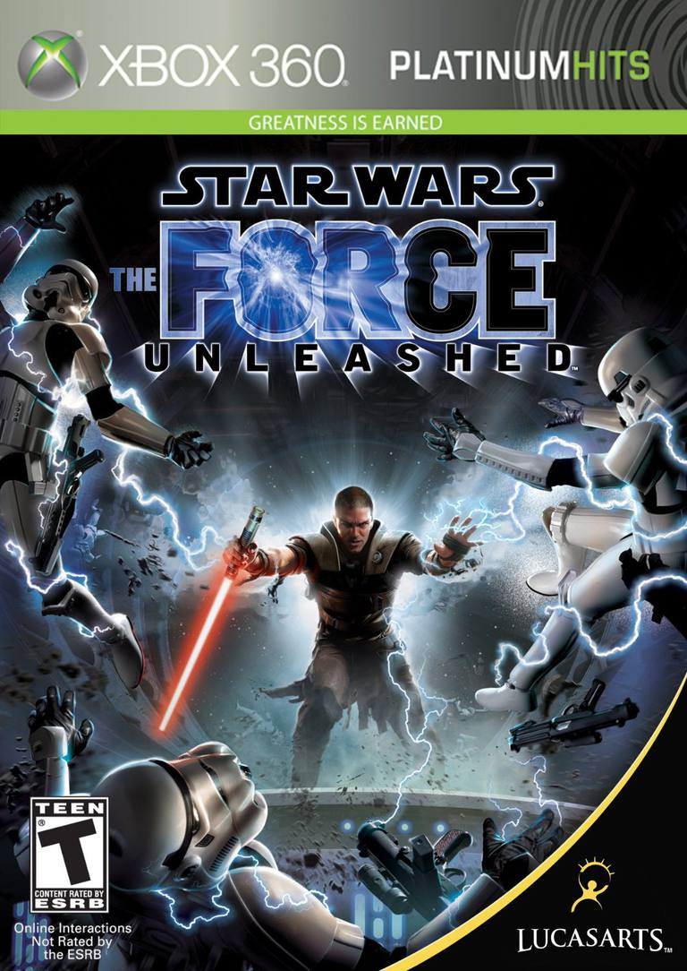 Star Wars: The Force Unleashed box of the Xbox 360 game