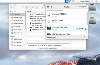 Dropbox for Mac Desktop