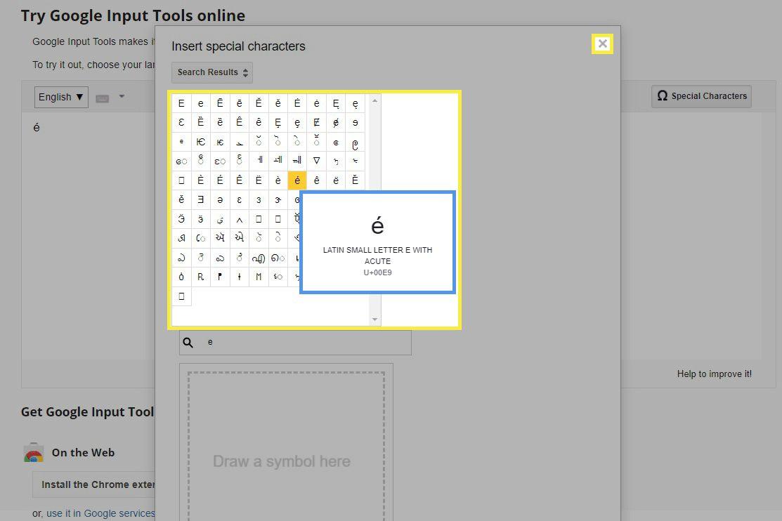 Google Input Tools website.
