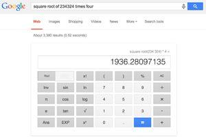 Using Google's calculator screenshot