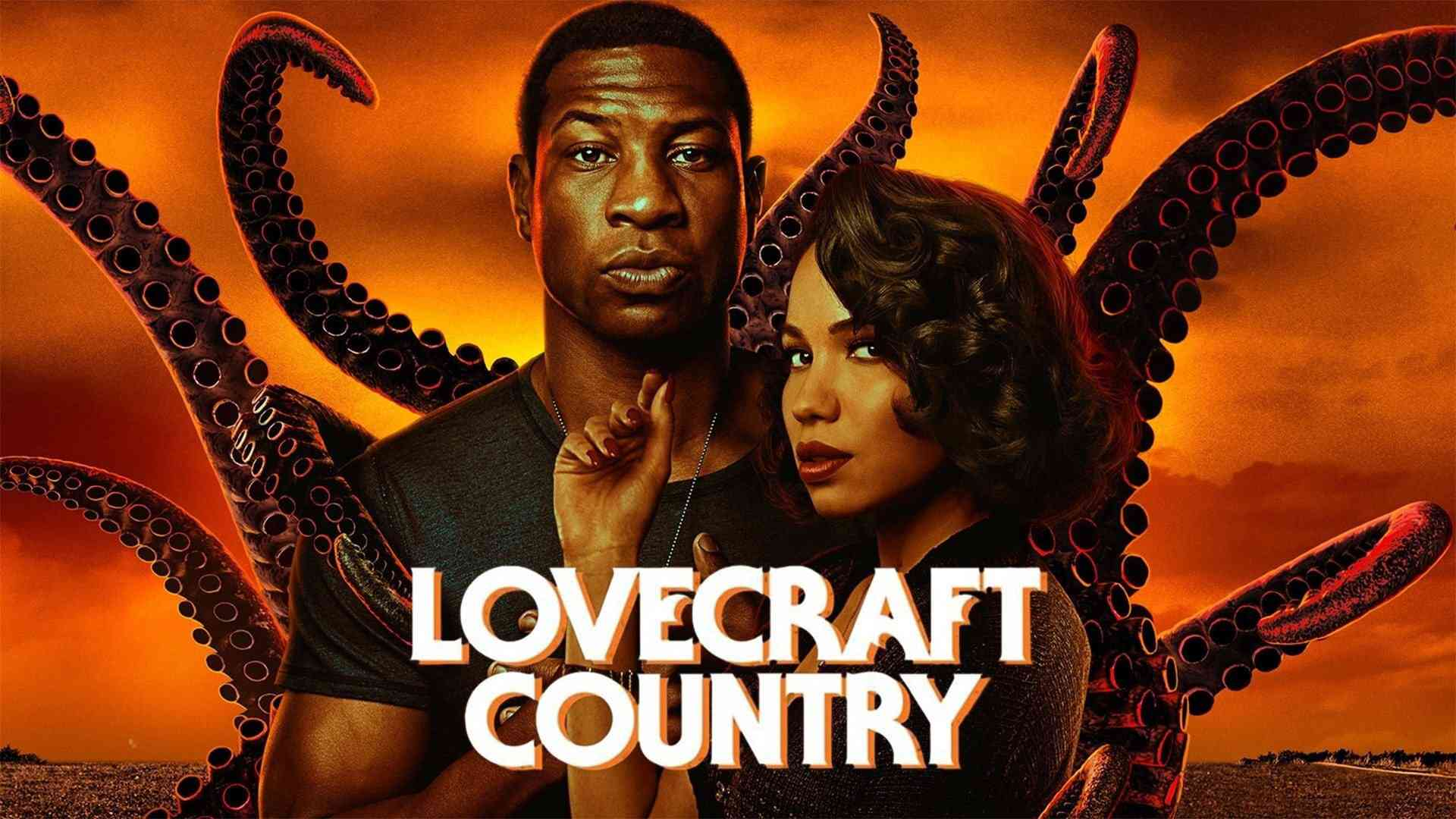 Jonathan Majors and Jurnee Smollett in Lovecraft Country