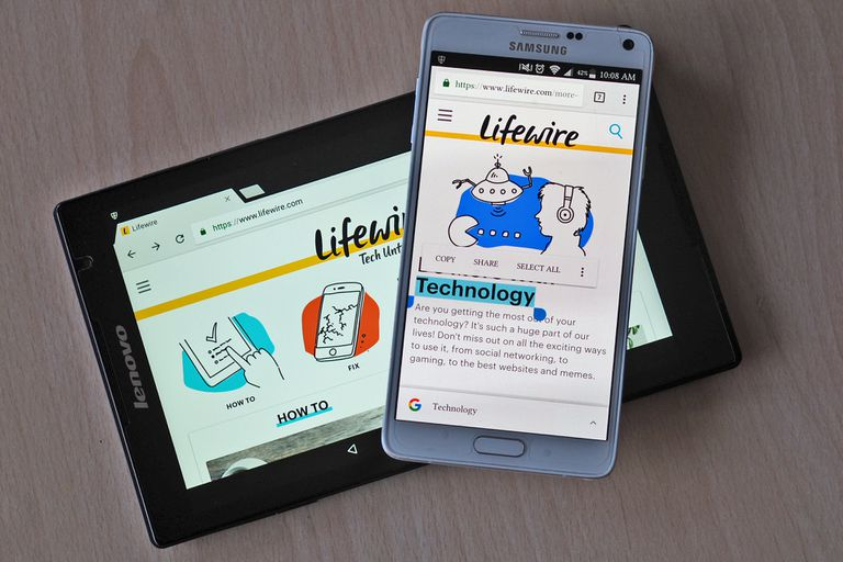 A tablet and smartphone displaying the Lifewire.com website