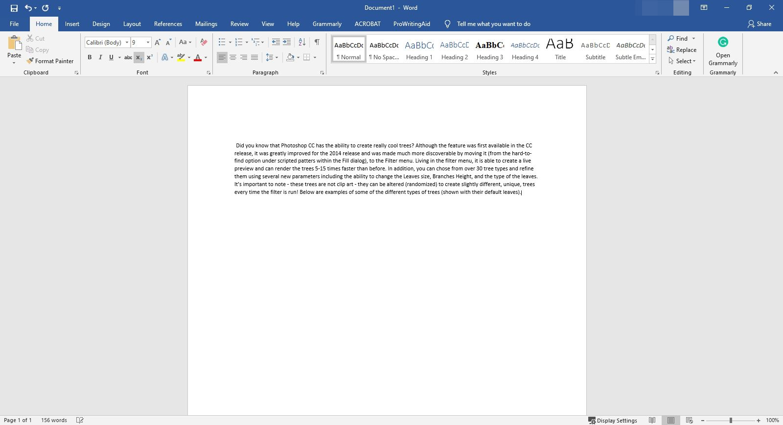 Text pasted from a PDF into Microsoft Word.