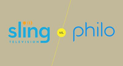 Logos of Sling TV and Philo