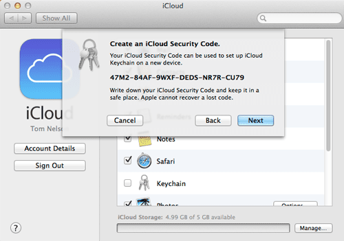 Set up iCloud Keychain on the Mac to Improve Security 68c3ea5893