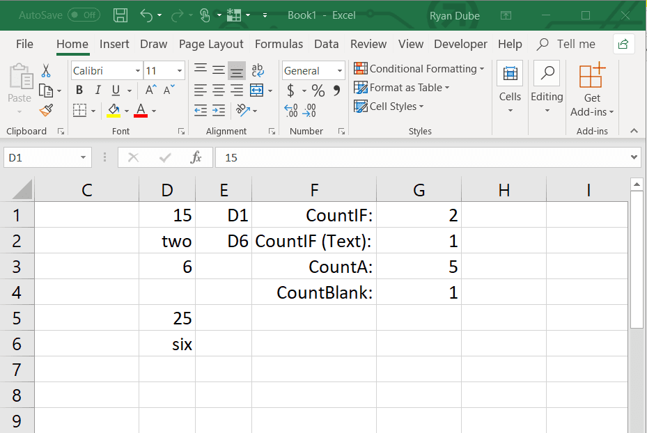 Use a Dynamic Range in Excel With COUNTIF and INDIRECT