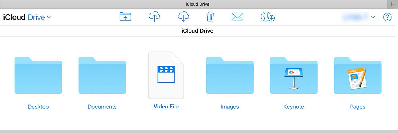 Screenshot of iCloud Drive files