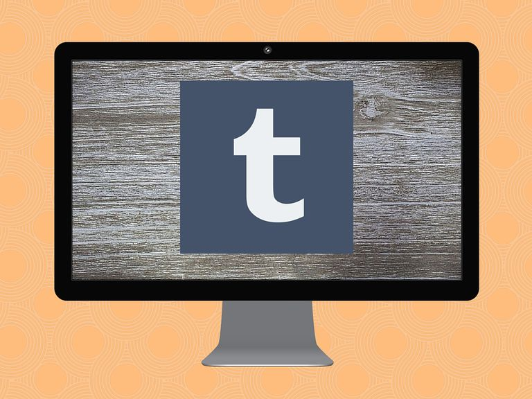 Tumblr icon on computer screen