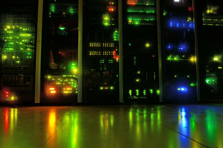 Inside view of a typical data center