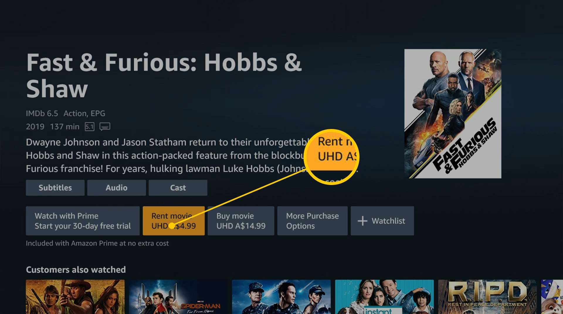 Amazon Prime Video Xbox One app with UHD feature.