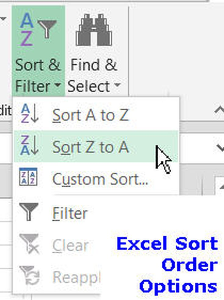 Sort order in excel spreadsheets ccuart Choice Image