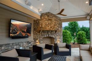 SunBrite Veranda Lifestyle TV on porch