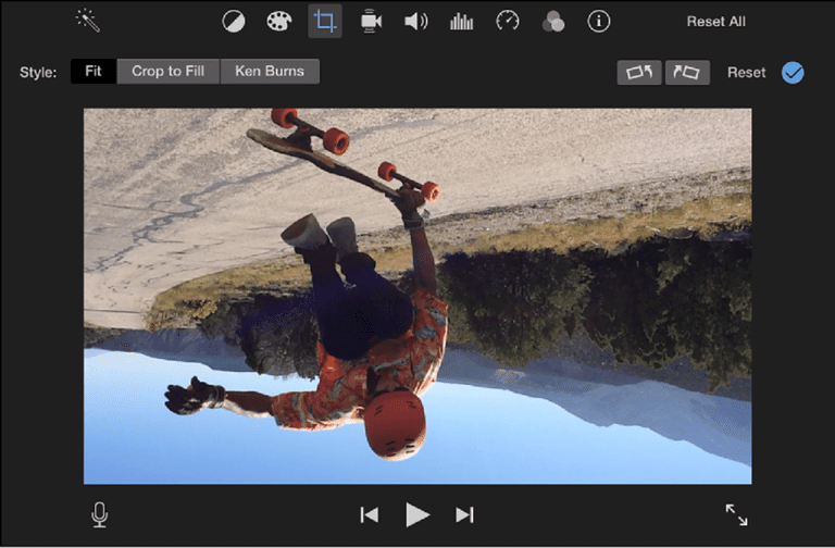 How to rotate video on your iphone or mac a picture of imovie on a mac with the photo rotating ccuart Images