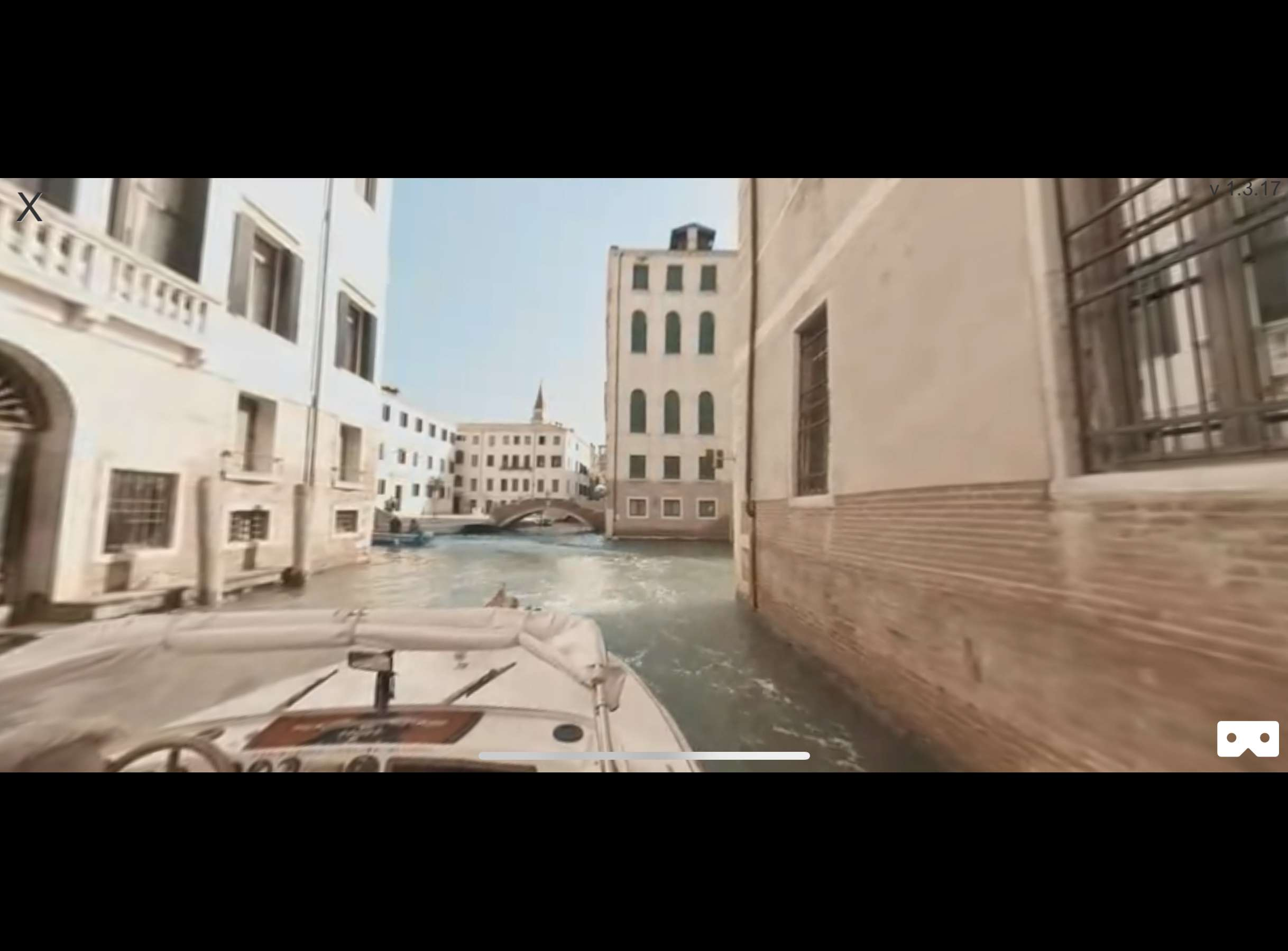 Virtual reality Italy travel movie in the Italia VR iPhone app.