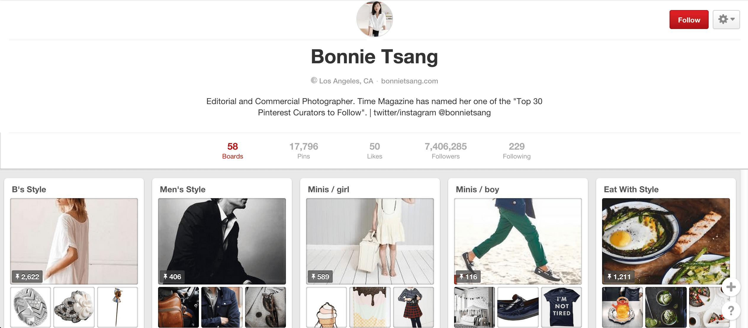 Bonnie Tsang Pinterest board