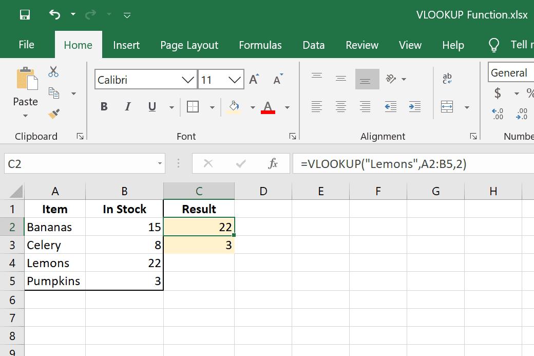 VLOOKUP examples in Excel