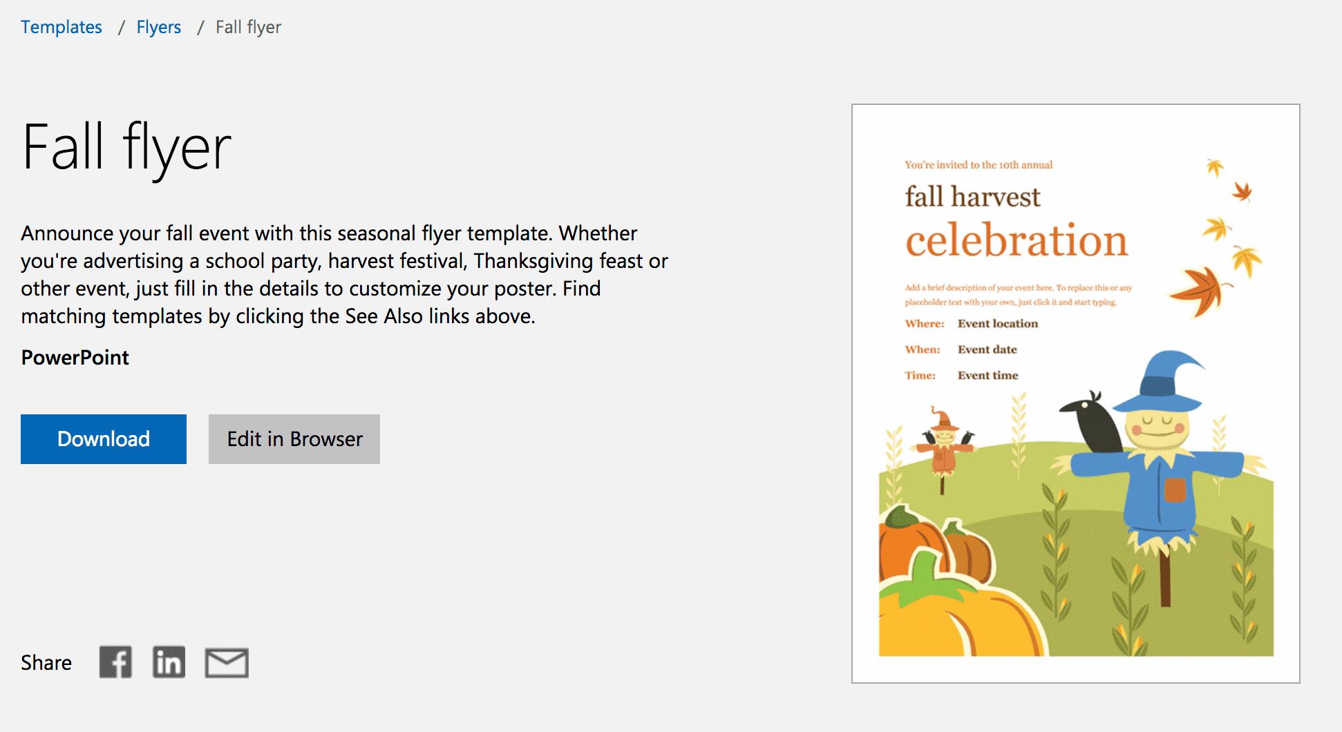 free autumn theme templates for microsoft office