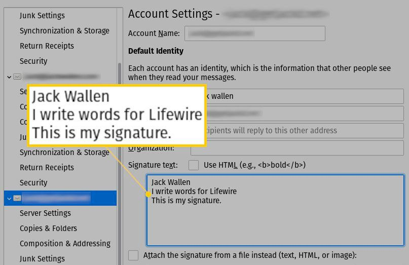 Screenshot of a text-based signature in Thunderbird.
