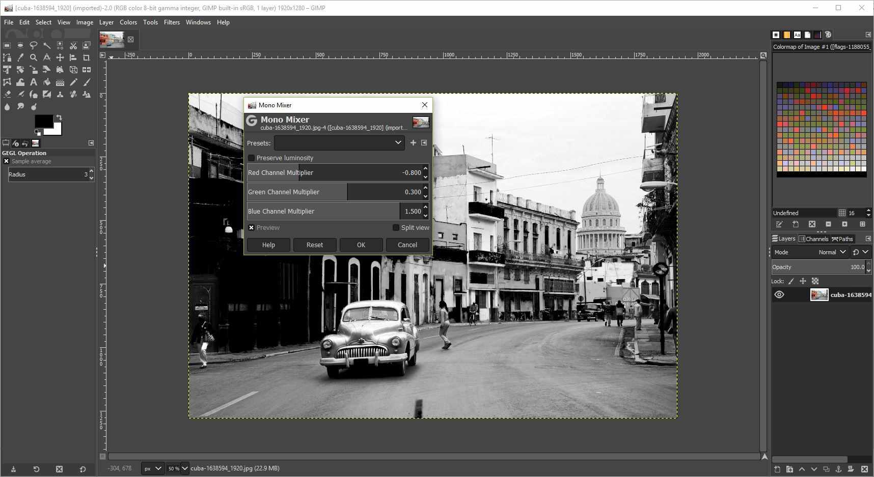 Adjust Levels of a Photo to Black and White in GIMP