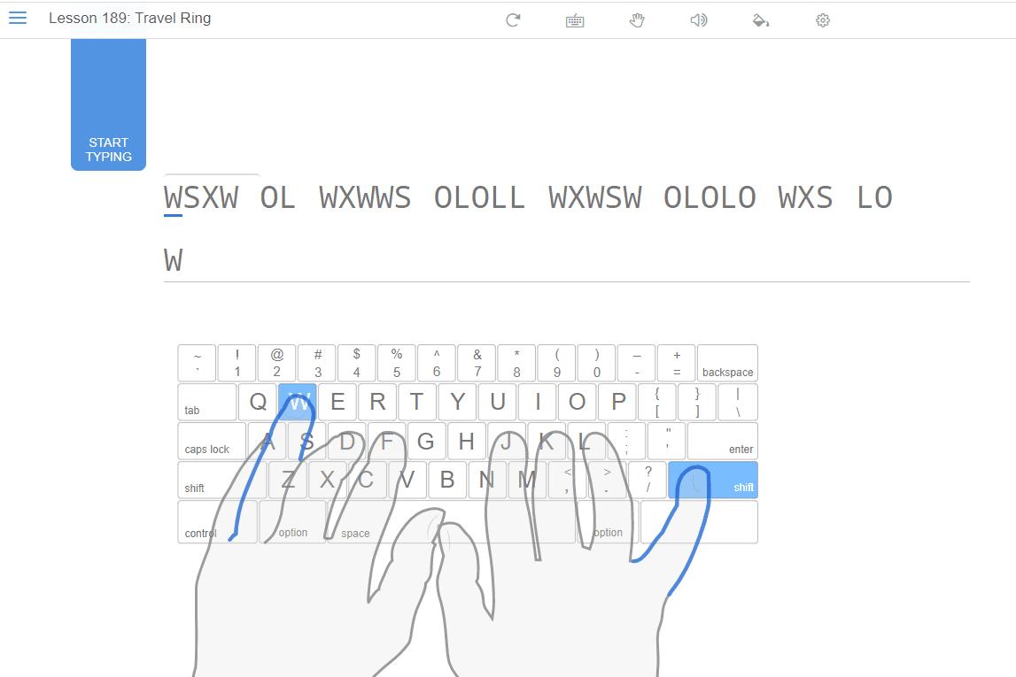 TypingClub Lesson 189