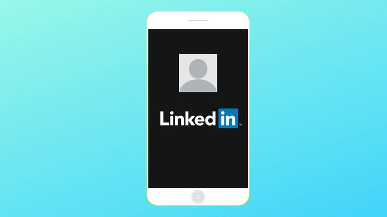 An image of a profile picture and the LinkedIn logo on a smartphone.