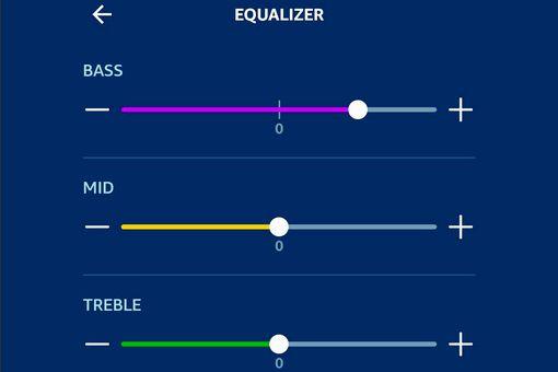 Alexa App – Equalizer Settings